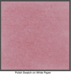 Burgundy wax polish on white paper