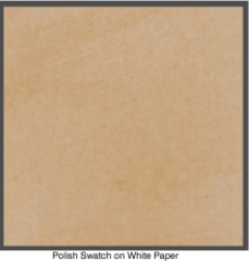 Medium brown polish on white paper