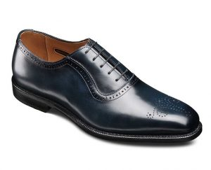 allen edmonds midnight blue shoe polish color