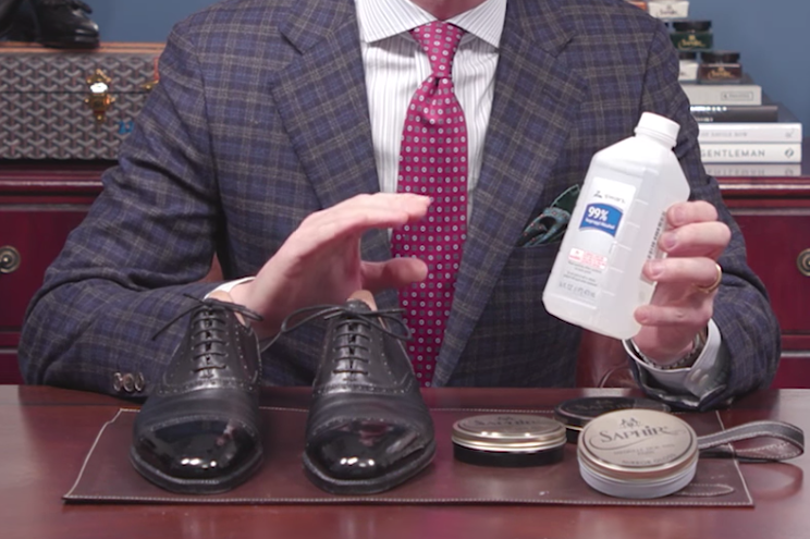 How to Polish Shoes to a Mirror Shine - Isopropyl Alcohol