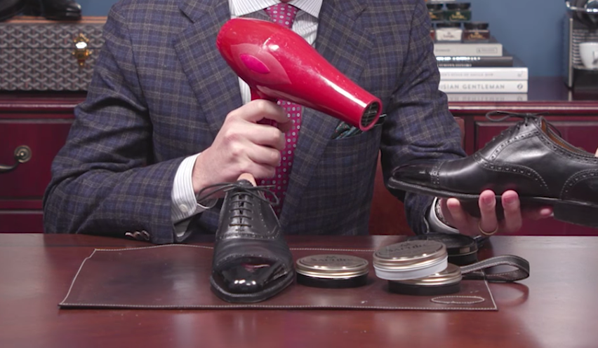 How to Polish Shoes to a Mirror Shine - Blow Dryer
