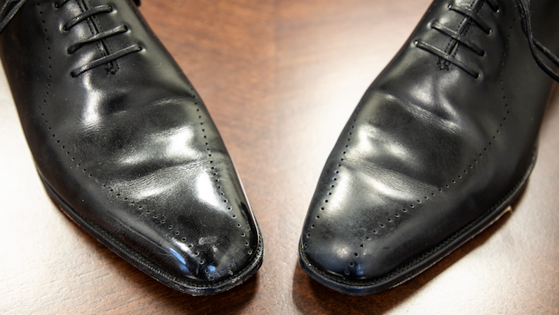How to remove shoe polish - Before & After