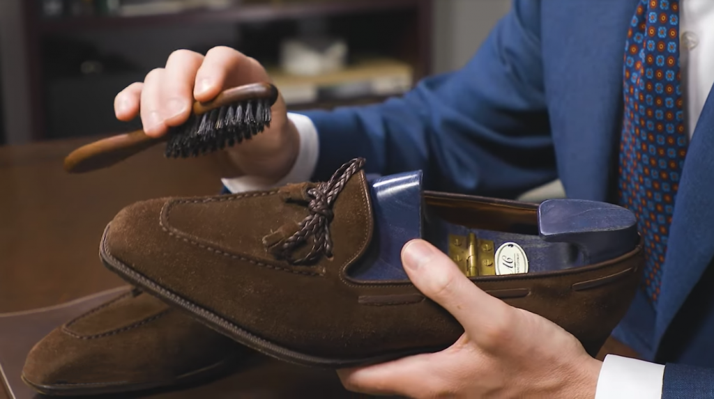 Waterproof Suede Shoes - Step 0: Brush