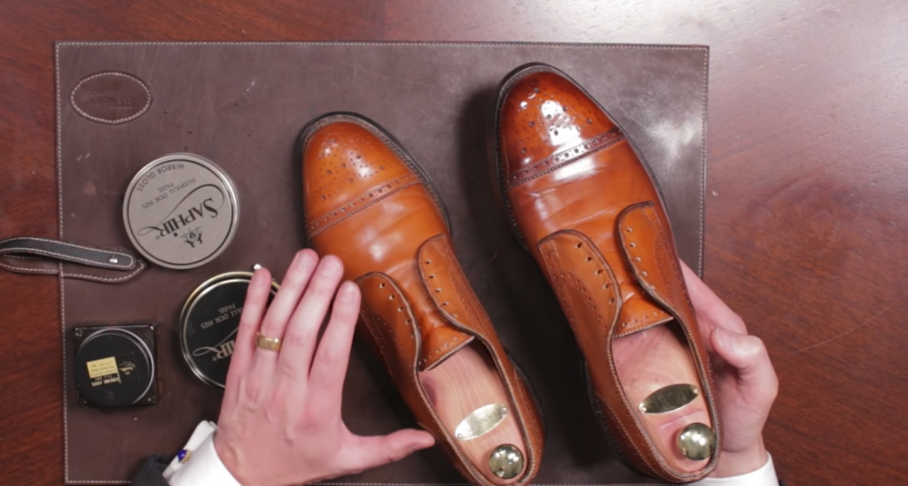 How To Antique Dress Shoes - Final Look