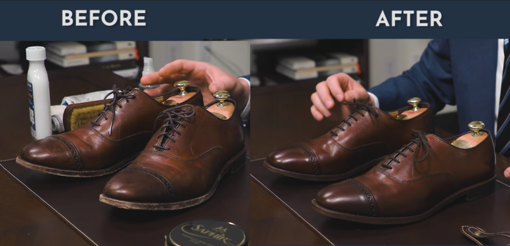 Before&After - How to Shine Allen Edmonds Fifth Avenue