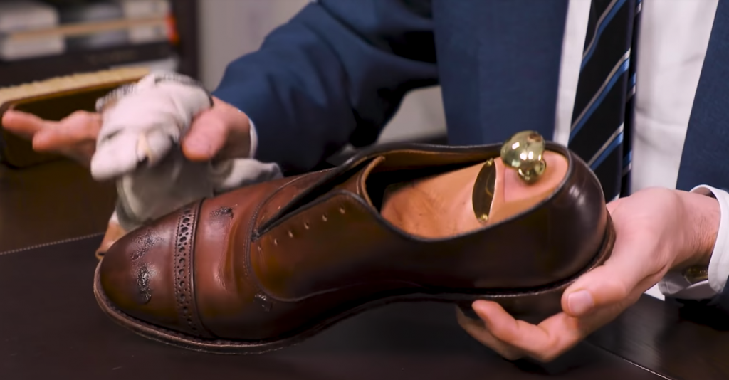 Step 2 - How to Shine Allen Edmonds Fifth Avenue
