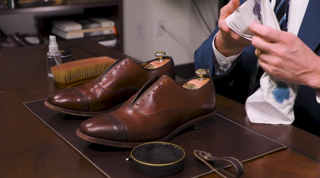 Step 4 - How to Shine Allen Edmonds Fifth Avenue