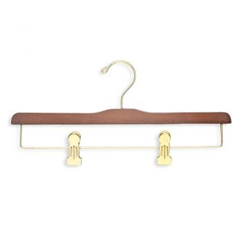 Wooden Trouser Clip Hanger, Set of 5