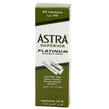 Astra Superior Double Edge Safety Razor Blades (100 Blades)
