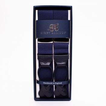 Sovereign Grade Plain Navy Braces