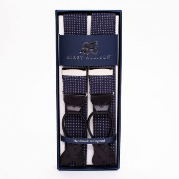 Sovereign Grade Pin Dot Navy Braces