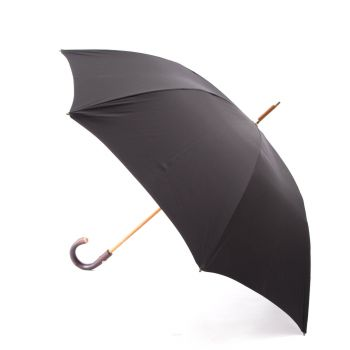 Maglia Francesco Black Doorman Umbrella with Chestnut Handle