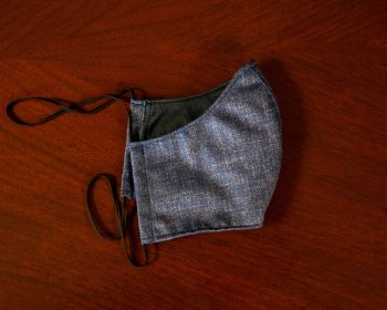 Sovereign Grade COVID Blue Wool-Silk Mask