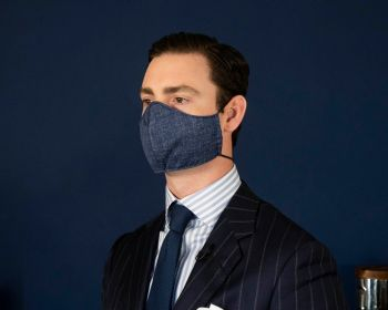 Sovereign Grade COVID Navy Wool-Silk Mask