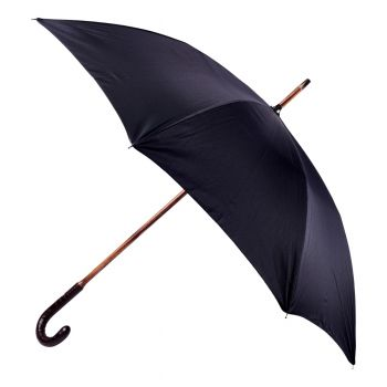 Kirby Allison Brown Alligator Solid Stick Umbrella with Black Canopy