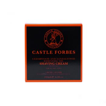 Castle Forbes Cedarwood and Sandalwood Oil Shaving Cream