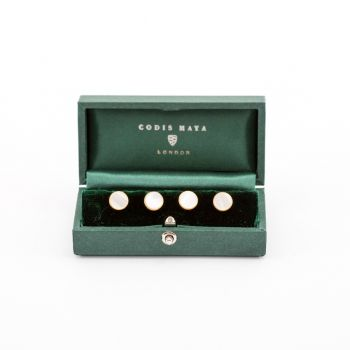 Gold Mother of Pearl Stud Set