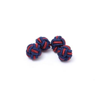 Dual Colored Knot Cufflinks