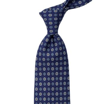Sovereign Grade Navy Floral 36oz Printed Silk Tie