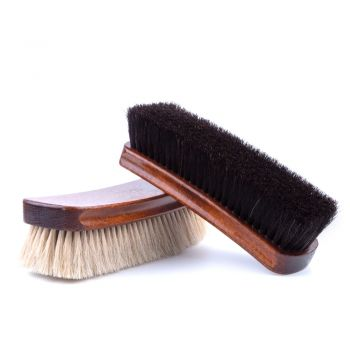 Extra-Large Wellington Horsehair Shoe Polishing Brush