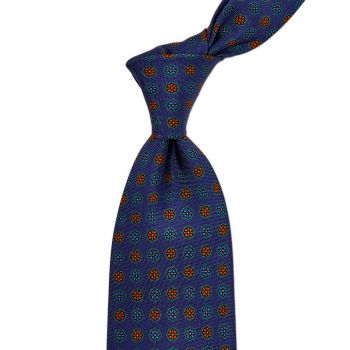 Sovereign Grade Blue Floral 25 oz Hopsack Silk Tie