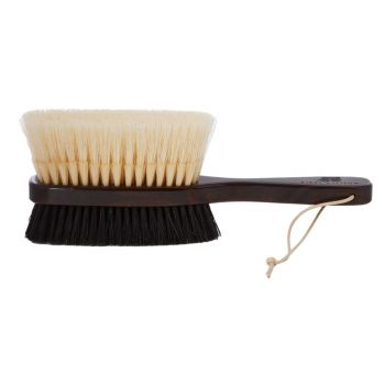 Hanger Project Ebony Deluxe Double-Sided Garment Brush