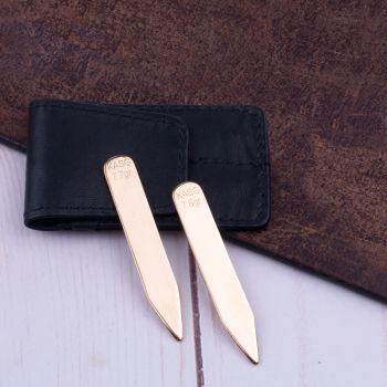 Sovereign Grade Solid Gold Collar Stays