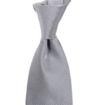 Sovereign Grade Silver Silk Micro Dot Tie