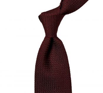 Sovereign Grade Burgundy Grenadine Grossa Tie