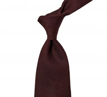 Sovereign Grade Grenadine Fina Burgundy Tie