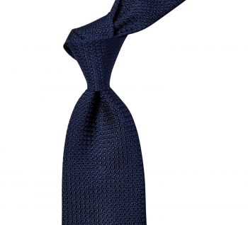 Sovereign Grade Navy Blue Grenadine Grossa Tie