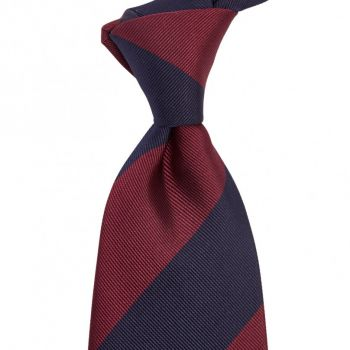 Sovereign Grade Midnight/Oxblood Household Guards (Blues and Royals) Tie