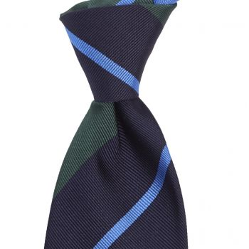 Sovereign Grade Navy/Green Rep Tie