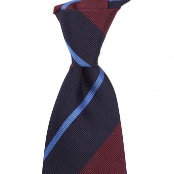 Sovereign Grade Navy/Burgundy Rep Tie