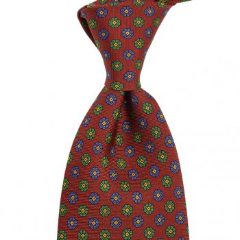 Sovereign Grade Royal/Blue/Green Maccesfield Corn Floral Motif Tie