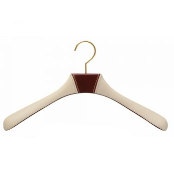 Leather Covered Jacket Hanger by Authentiques Paris