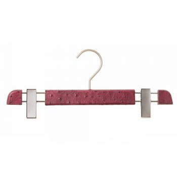 Leather Covered Trouser Clip Hanger by Authentiques Paris