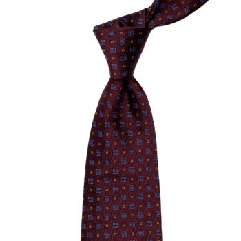 Sovereign Grade Burgundy Alternating Square Jacquard Tie