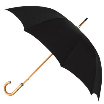 Maglia Francesco Black Canopy Umbrella with Malacca Handle