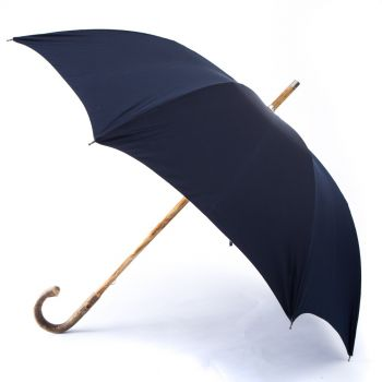 Ashwood Solid-Stick Umbrella with Navy Canopy
