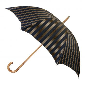 Maglia Francesco Navy Striped Umbrella with Maple Handle