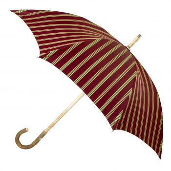 Maglia Francesco Red Striped Umbrella with Ashwood Handle