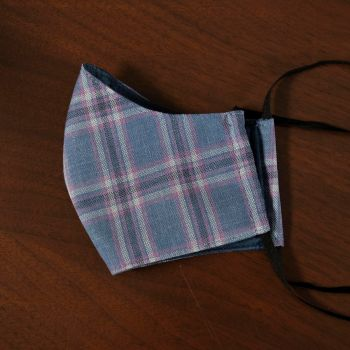 Sovereign Grade Blue and Purple Plaid Face Mask (Medium)