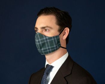 Sovereign Grade Green Plaid Face Mask