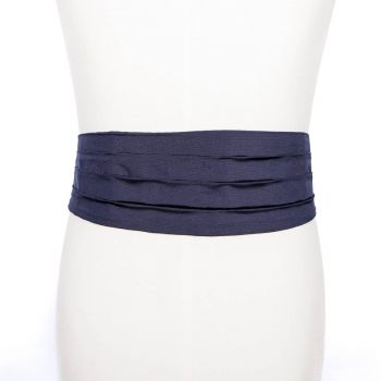 Sovereign Grade Navy Barathea Silk Cummerbund - Old Stock