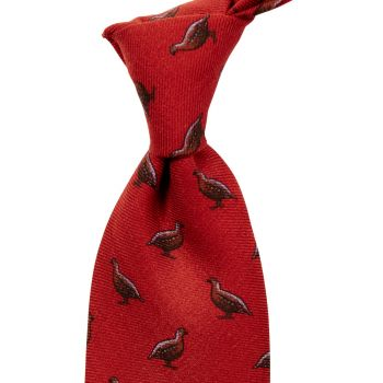 Sovereign Grade 100% Wool Regency Quail Shooting Tie