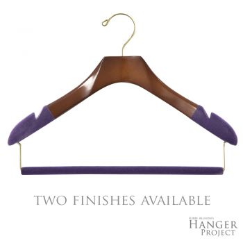 Women's Suit Hanger with Felted Trouser Bar
