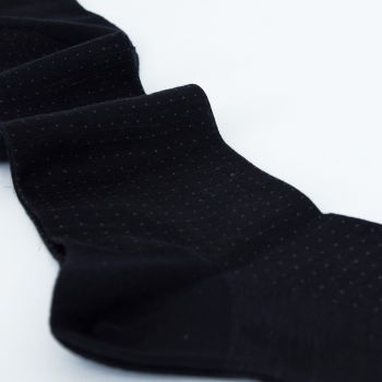 Palatino Dark Grey Leonardo Small-Dot Melange Dress Sock