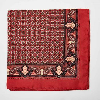 Sovereign Grade 100% Silk Crimson Pocket Square
