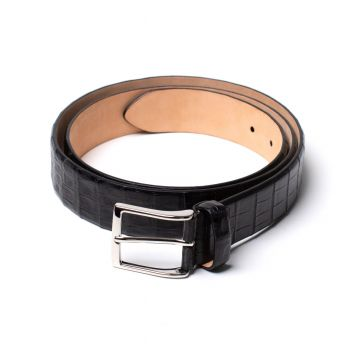 Simonnot Godard Crocodile Belt - Black